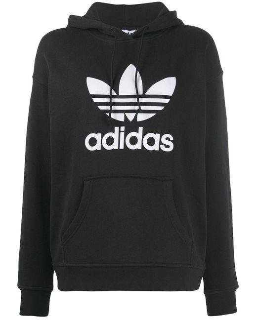Adidas ロゴプリント パーカー Black