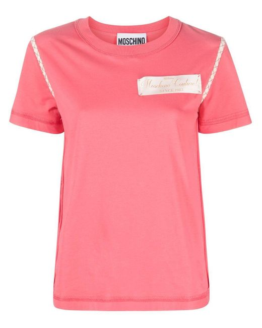 Moschino ロゴパッチ Tシャツ Pink