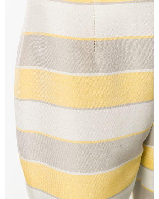 Облегающее Брюки В Полоску Giorgio Armani, цвет: Yellow