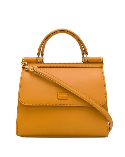 Dolce & Gabbana Sicily ハンドバッグ S Yellow