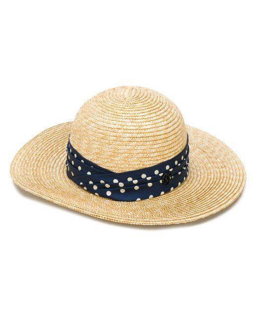 Cappello estivo di Maison Michel in Multicolor