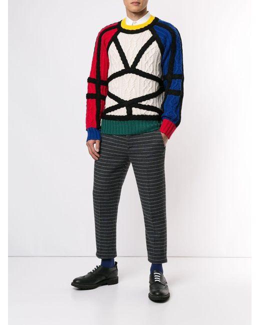 メンズ CHARLES JEFFREY LOVERBOY ジオメトリック セーター Multicolor
