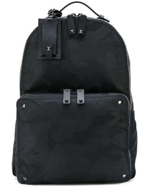 Valentino Garavani Camouflage-Rucksack in Black für Herren