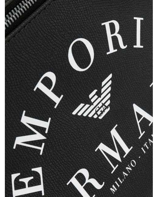 メンズ Emporio Armani ロゴ バックパック Black