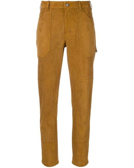 Pantalon slim Saint Laurent en coloris Brown