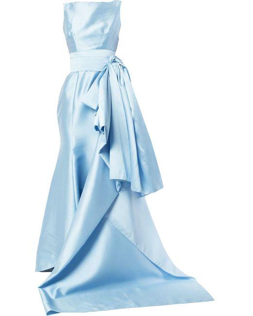 Длинное Платье 'sylvia Sabrina' Bambah, цвет: Blue