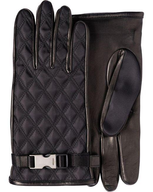 Prada - Black Klassische Handschuhe for Men - Lyst
