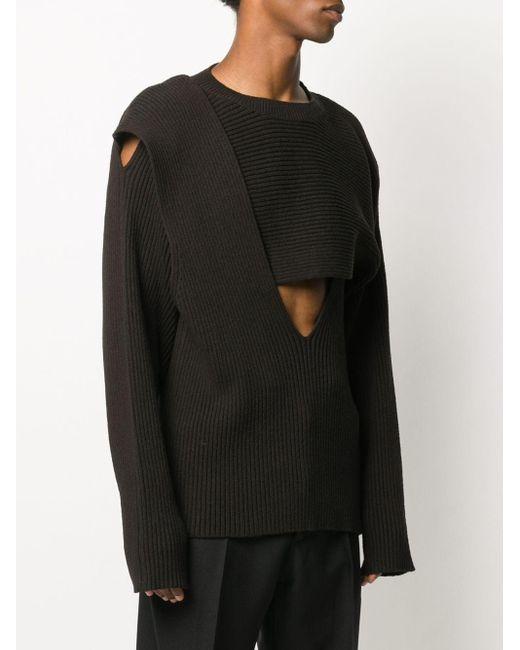 Джемпер В Рубчик Bottega Veneta для него, цвет: Brown