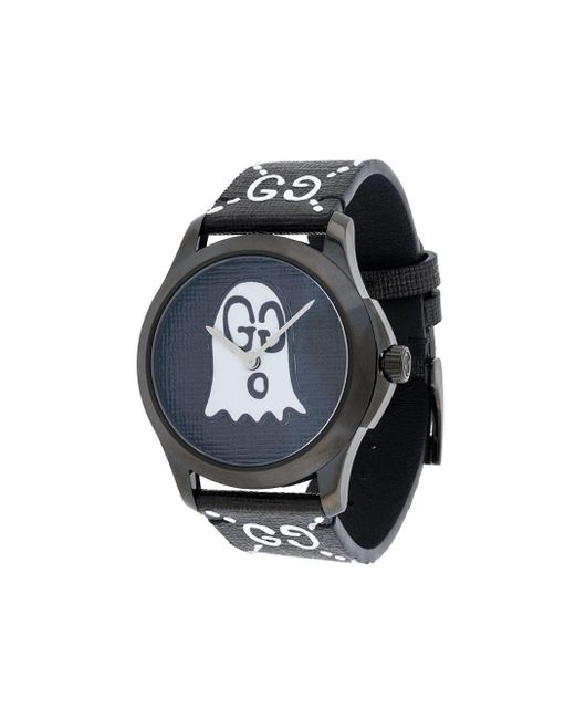 メンズ Gucci グッチゴースト Gタイムレス 腕時計 Black