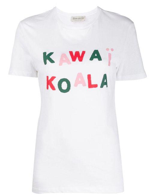 Être Cécile White Printed T-shirt