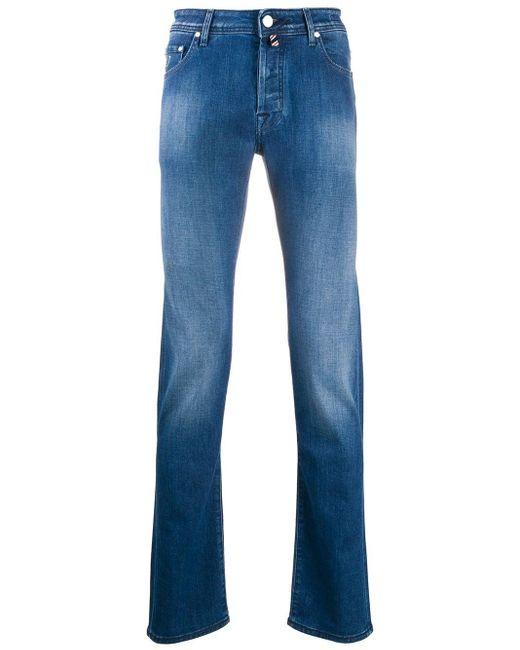 メンズ Jacob Cohen J688 ストレートジーンズ Blue