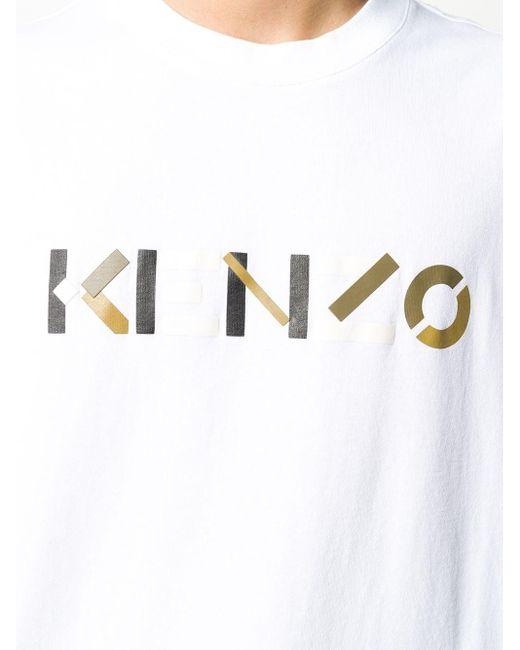 メンズ KENZO ロゴ Tシャツ White
