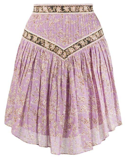 Étoile Isabel Marant Valerie フローラル スカート Purple