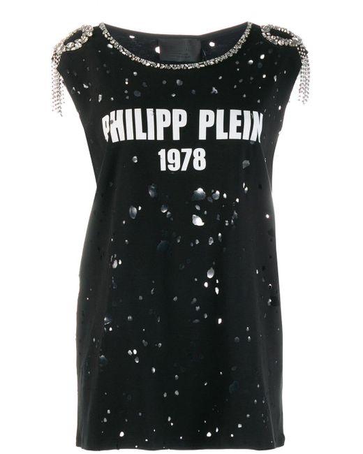 Philipp Plein ダメージ Tシャツ Black