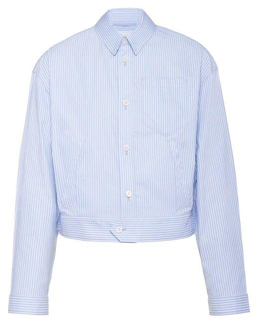 メンズ Prada ストライプ ジャケット Blue