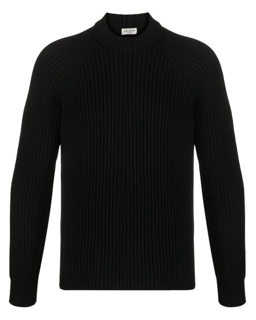 メンズ Saint Laurent クルーネック プルオーバー Black