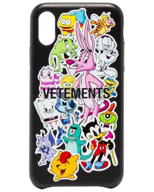 メンズ Vetements Monster Iphone Xs ケース Black