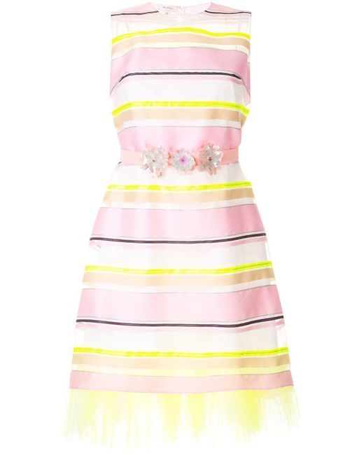 Delpozo シアーストライプ ドレス Pink