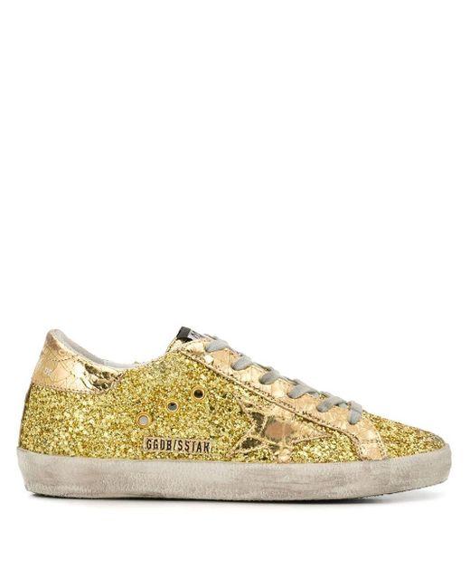 Кроссовки 'superstar' С Блестками Golden Goose Deluxe Brand, цвет: Metallic