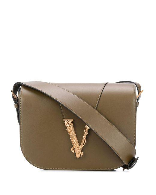 Versace Virtus ショルダーバッグ Brown