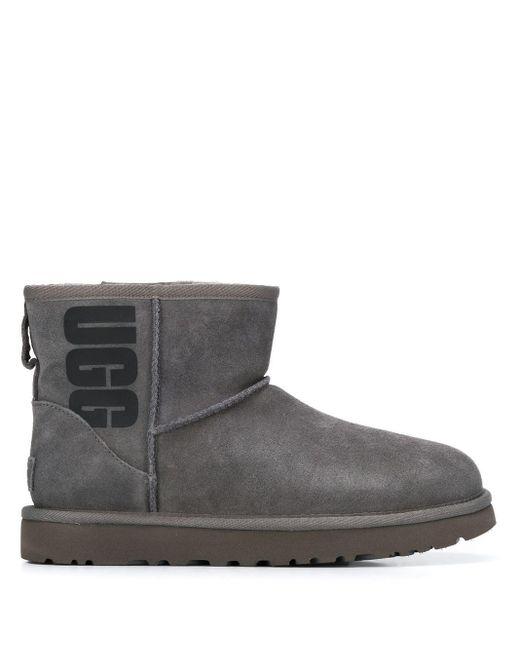 Ugg ロゴ プリント ブーツ Gray