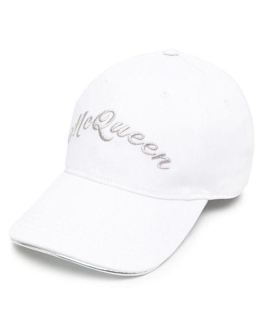 Бейсболка С Вышитым Логотипом Alexander McQueen для него, цвет: White