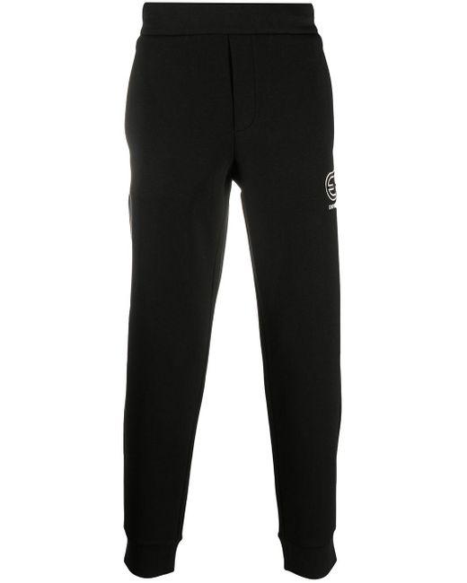 メンズ Emporio Armani ロゴ トラックパンツ Black