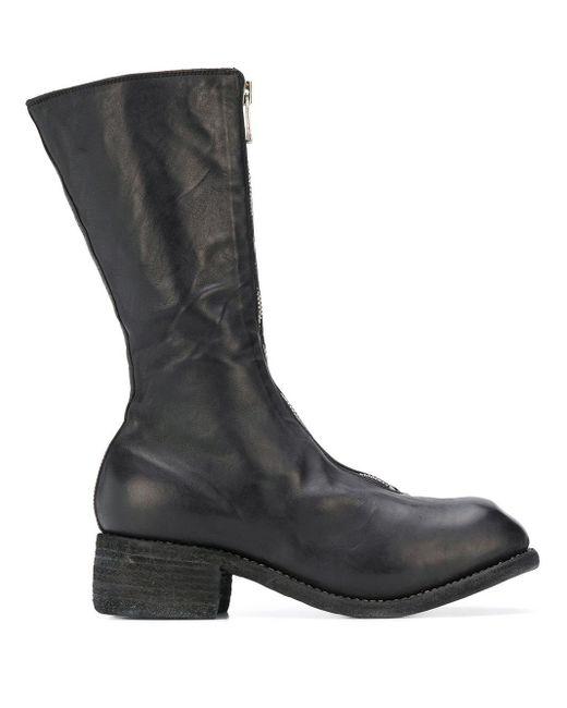 Guidi ミッドカーフ ブーツ Black