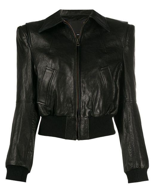 R13 Black Stitched Shearling Jacket