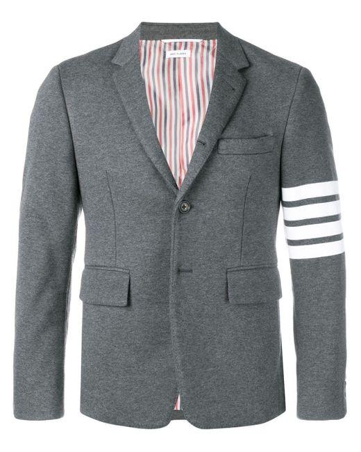 メンズ Thom Browne 4bar ジャージースポーツコート Gray