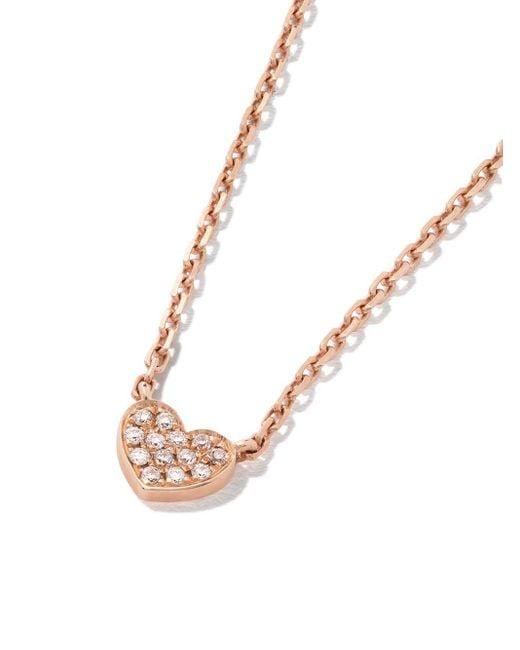 AS29 Miami Heart ダイヤモンド ネックレス 18kローズゴールド Metallic
