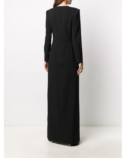 Saint Laurent サイドスリット ドレス Black