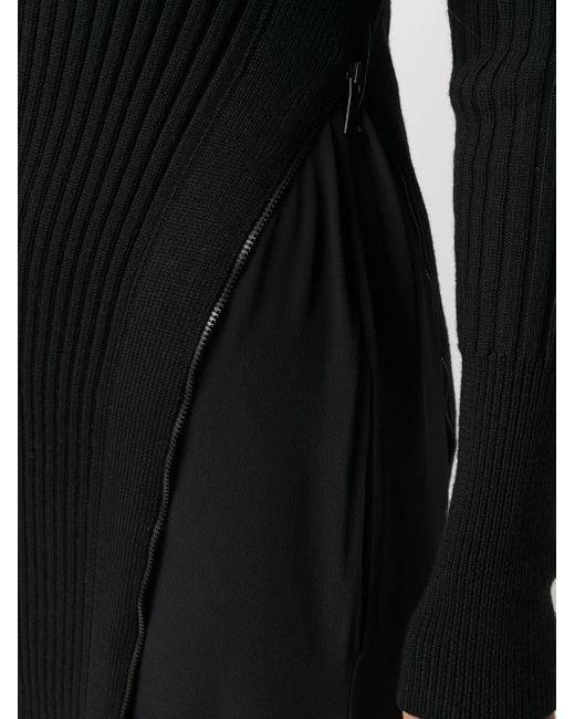 N°21 リブニット ドレス Black