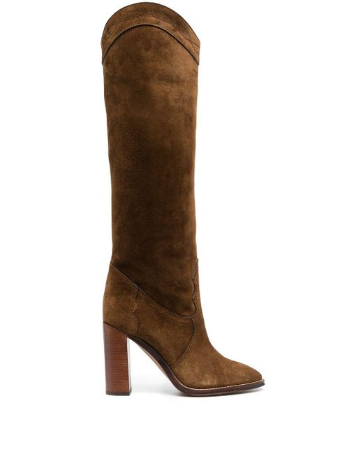 Saint Laurent Brown Kate Stiefel