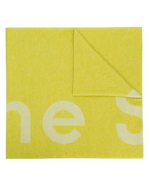 Acne Toronty ロゴ スカーフ Yellow