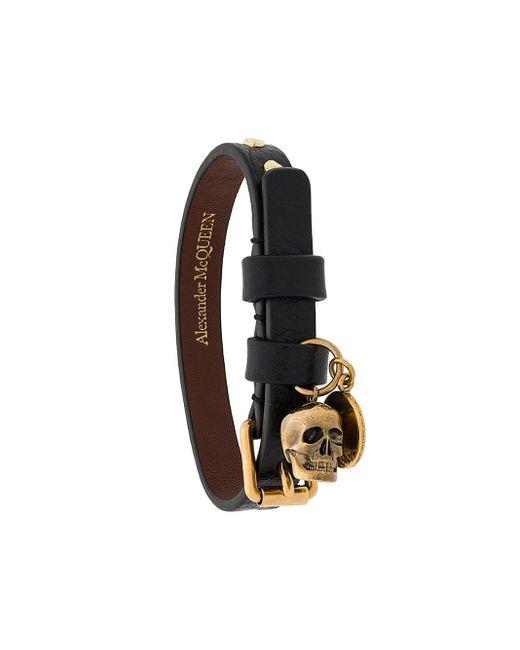 Alexander McQueen Black Belt Style Bracelet for men