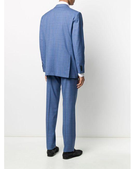 メンズ Kiton ツーピース スーツ Blue