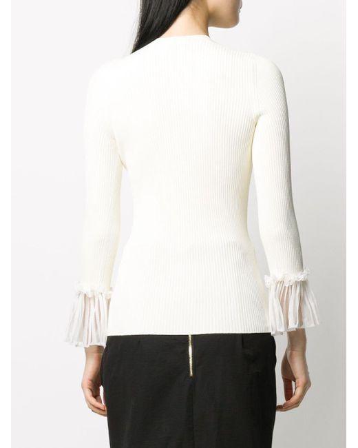 Топ В Рубчик С Плиссировкой На Рукавах Alexander McQueen, цвет: White