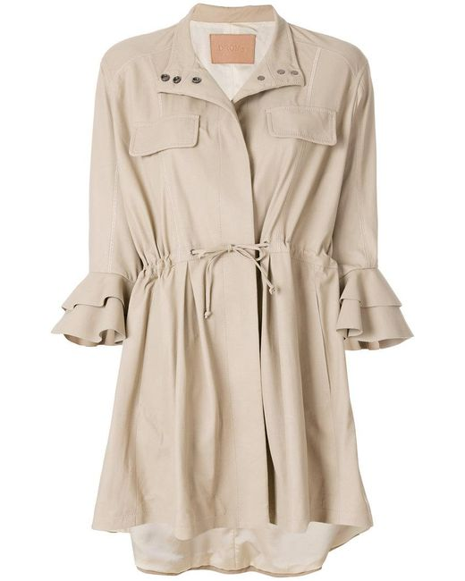 DROMe - Natural Oversized Shirt Jacket - Lyst