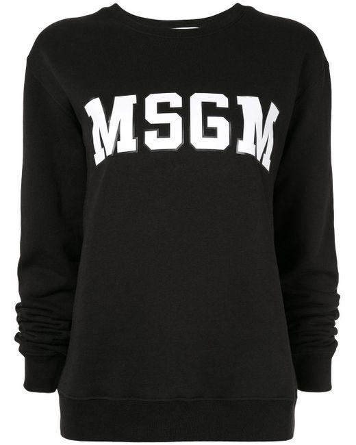 MSGM ロゴ スウェットシャツ Black