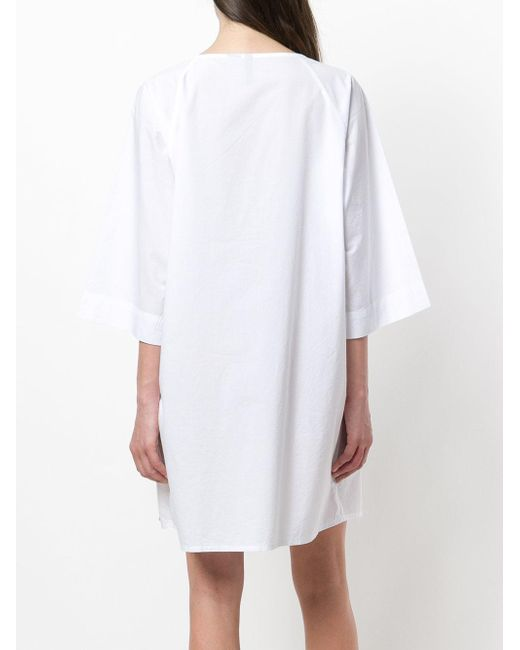 White dress with ribbon Woolrich apoCyeFF