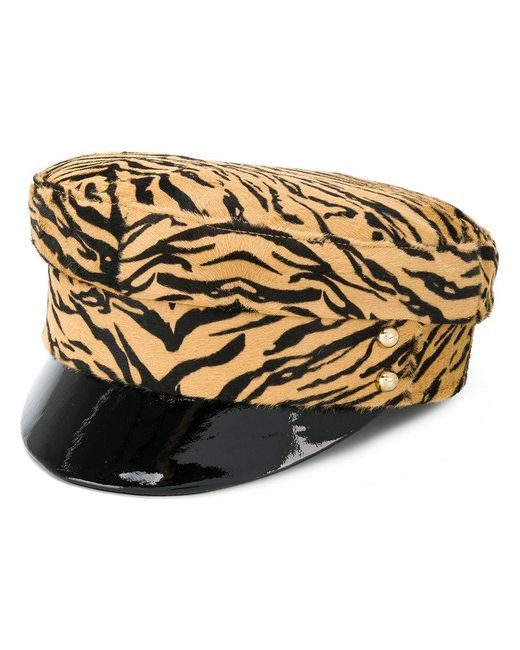 Manokhi - Brown Tiger Print Police Hat - Lyst