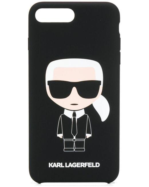 Karl Lagerfeld Black Karl Ikonik Iphone 8+ Cover