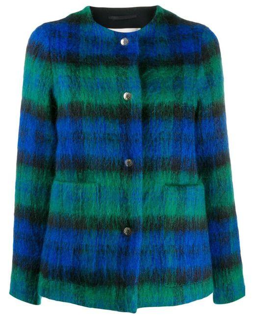 Mackintosh ウール&モヘア ノーカラー ジャケット Bettyhill Lm-1002f Multicolor