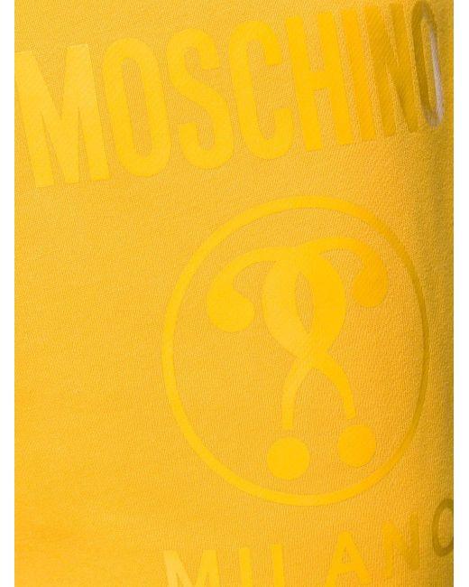 メンズ Moschino ロゴ トラックパンツ Yellow