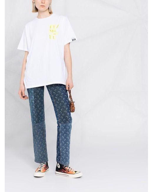 Golden Goose Deluxe Brand Remake プリント Tシャツ White