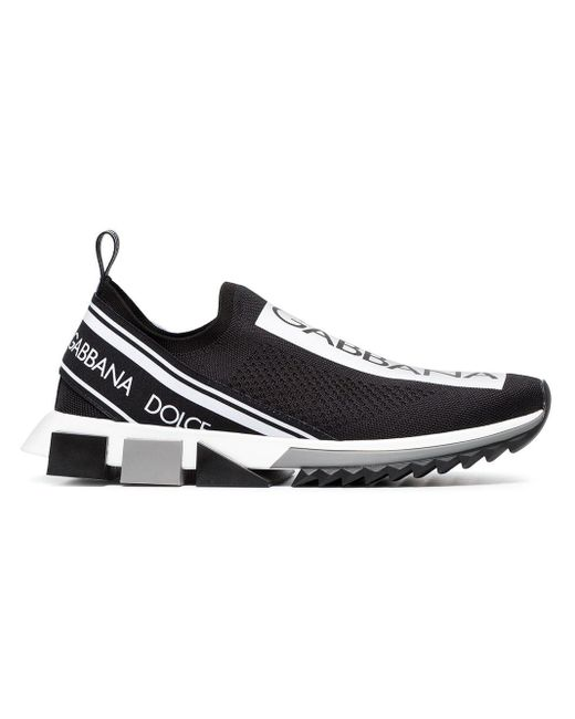 Baskets a enfiler noires et blanches Sorrento Dolce & Gabbana pour homme en coloris Black