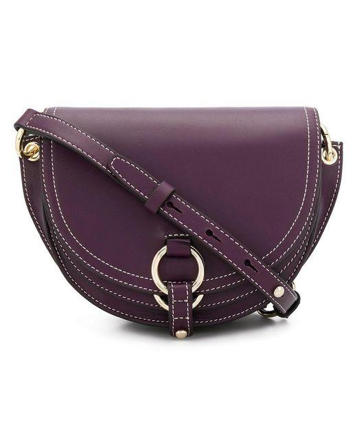 Tila March - Purple Contrast Stitch Shoulder Bag - Lyst