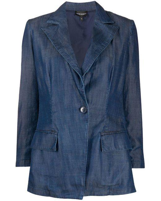 Emporio Armani デニム シングルジャケット Blue