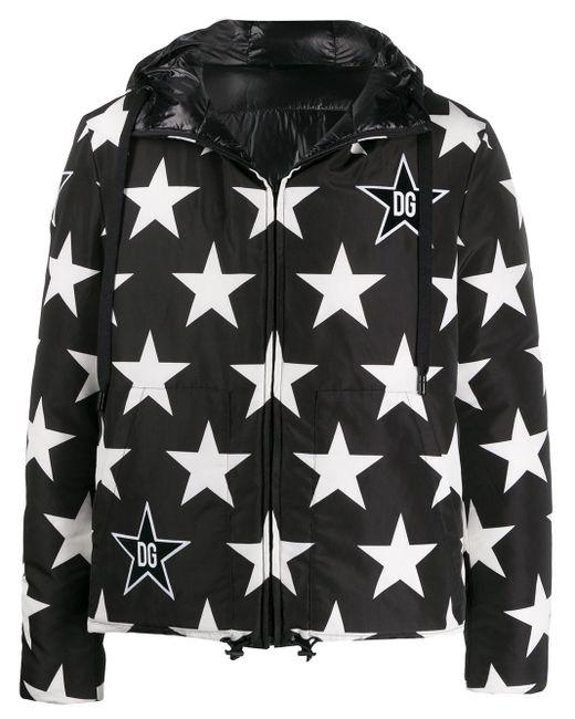 Пуховик С Принтом Dolce & Gabbana для него, цвет: Black